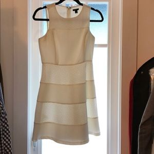White Ann Taylor fit and flare dress, size 0P